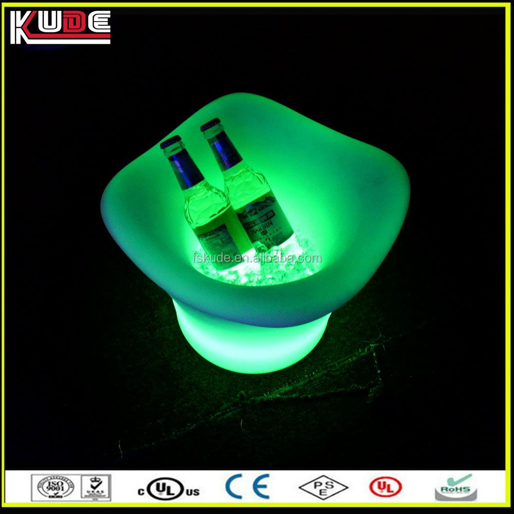 bar table LED glow ice buckets/ wine coolers
