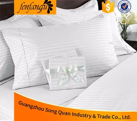 400TC Luxury 100% cotton white hotel bedding sheet sets/bed linen