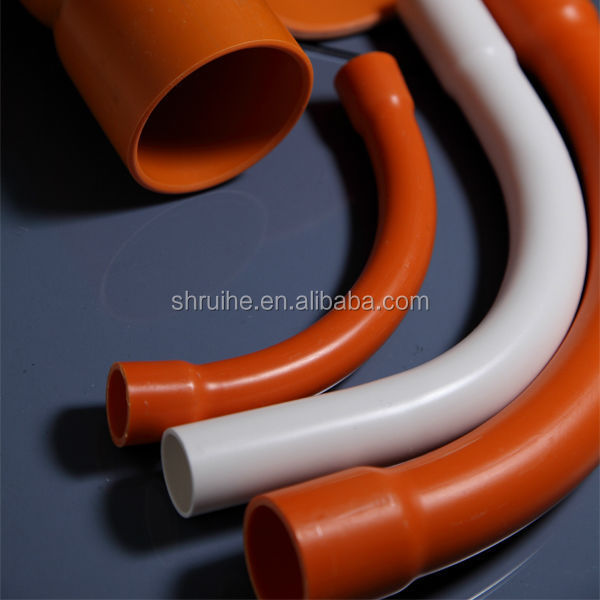 hot sale plastic pipe manufacture electric orange pvc conduit pipe price list