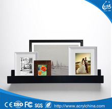 factory multiple small picture frames display custom acrylic wall shelf