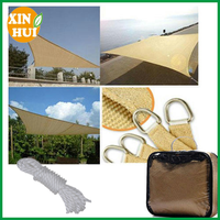 Hot Sale Beige Triangle Sun Shade Sail 12'x12'x12'' UV Stabilized Top Outdoor Canopy