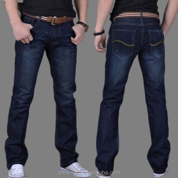 Fall 2015 men's fashion men's jeans Slim Straight jeans cotton trousers