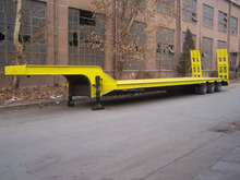 2015 New low plate semi trailer to carry heavy machines