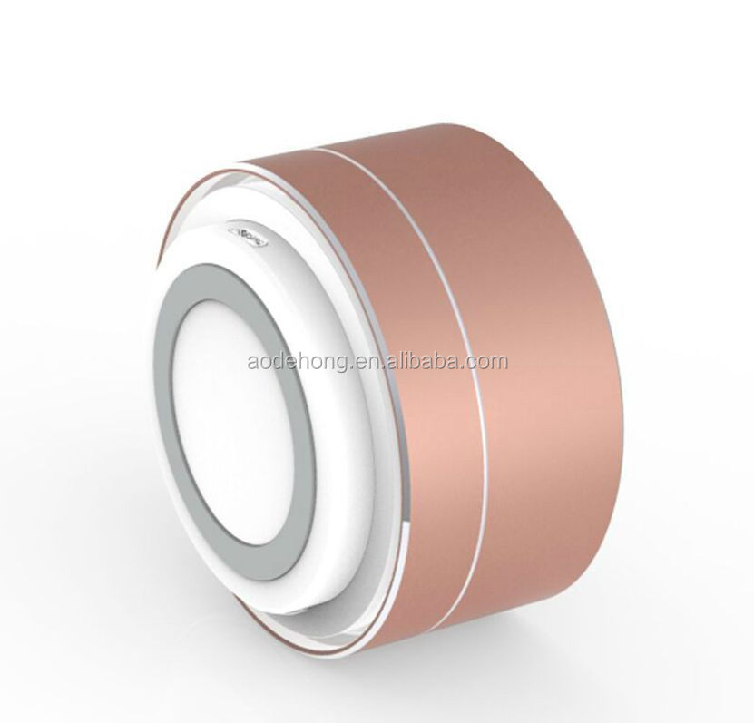 Mini fashionable design aluminum alloy A10 mine bluetooth speaker with led light