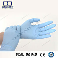 Disposable nitrile examination gloves in health and medical