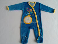 Newborn velour romper , 80% cotton, 20% polyester