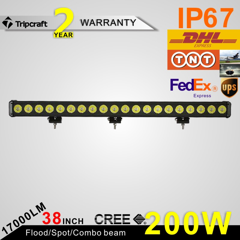 Tripcraft high quality 38 inch 200w led NEW single row led light bar