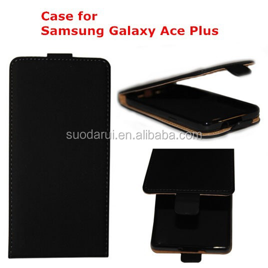 Soft TPU Cover Ultra Slim Leather Flip Case For Samsung Galaxy Ace Plus 7500 S7500