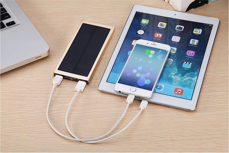 Portable universal solar charger, solar slim power bank, Solar battery charger for mobile phone/iPhone/iPad
