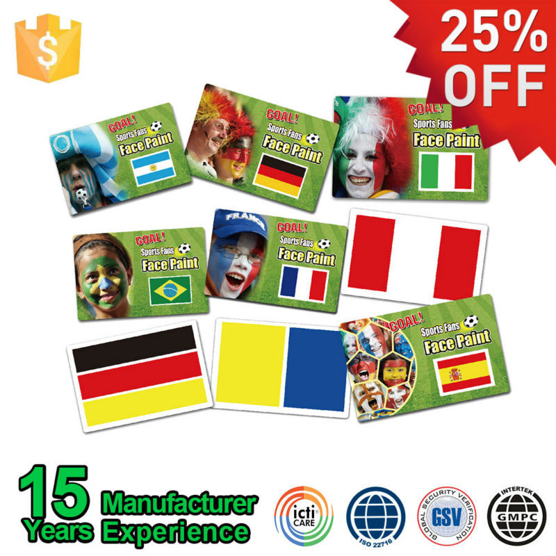 Wholesale Professional Sports Oil Based National Face Paint Card
