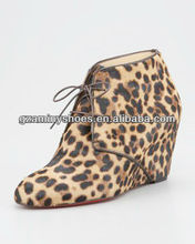 Leopard fashion wedge shoes 2013
