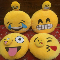 2015 Hot Sale In Stock High Quality Wholesale Soft Cute Stuffed Plush Emoji Pillow / Free Sample Emoji Pillow