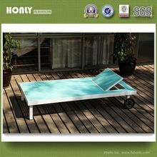 Latest design KD pool bed aluminum sling outdoor pool bed