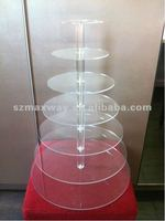7 Tier 5mm Thick Maypole Acrylic Wedding Party Favour Cupcake Cake Stand