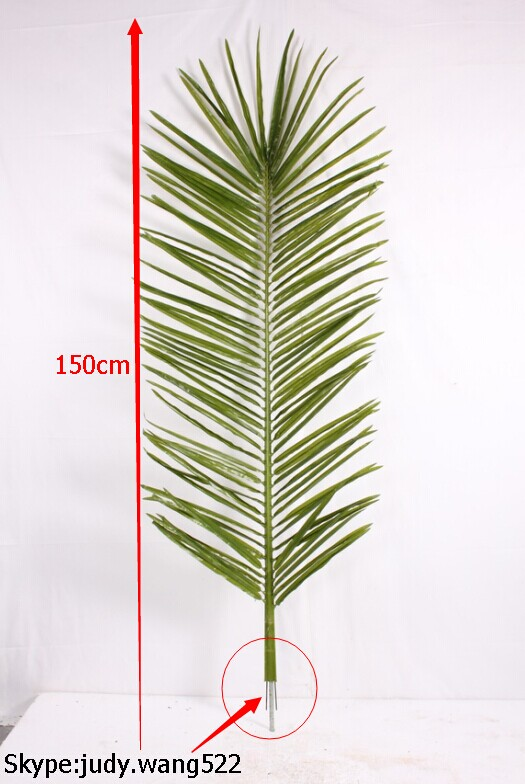 2014 SJ TL007 Factory 1.5m artificial palm tree leaf for decoration artificial date palm tree branches plastic palm tree leaves