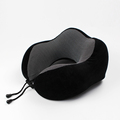 BSCI factrory Traveling U shape cushion foam support inflatable car neck rest pillow