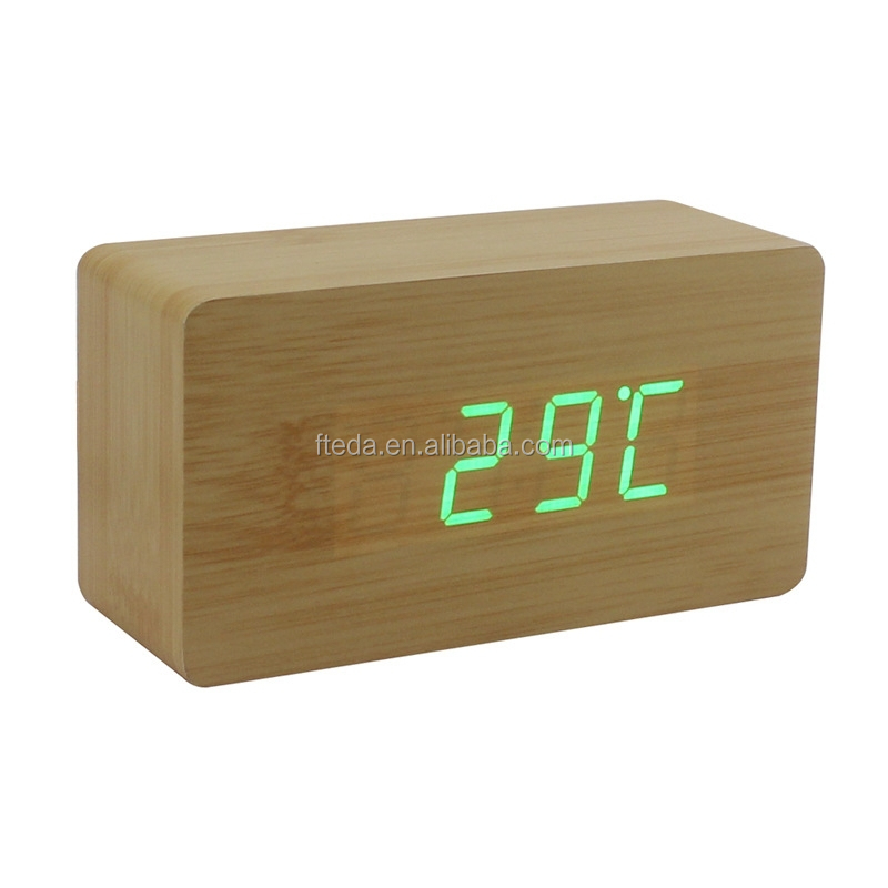 New products 2015 innovative product digital desktop wooden clock
