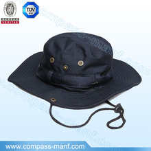 quick-drying nylon outdoor wide brim bucket hats with drawstring