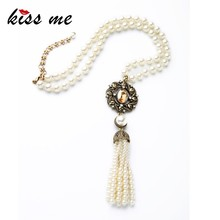 Wholesale Wedding Accessory Pearl Latest Design Beads Necklace