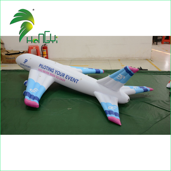 Durable Outdoor Advertising Inflatable Aircraft Model / PVC Display Helium Filled Inflatable Aeroplane Balloon