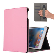 new fashion stand leather case for iPad mini 5 with card pocket and wrist