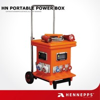 Hennepps IP54 portable waterproof electrical mobile power socket box