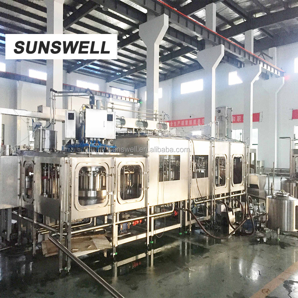 Aseptic liquid filling machine/beverage industry/plastic jars for water/seal bottle equipment