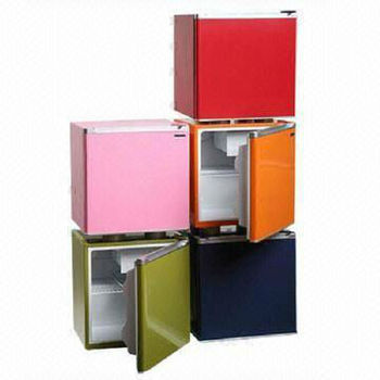 Colorful 46L Single Door mini Fridges with CE/CB/ETL/MEPS Class, Optional Lock and Key