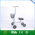 2016 new launch steel knee scooter knee walker with basket for rehab use