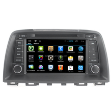 Quad core pure android 4.4 Mazda 6 2015 car radio gps with GPS 3G Wifi android Mirror link! Good quality!
