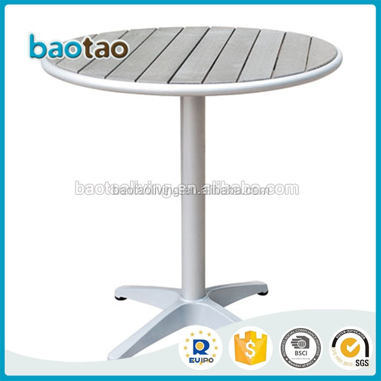 coffee shop round table aluminum bistro table