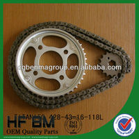 Motorcycle Chain and Sprocket Sets,43T/16T 428/118L Sprocket ,CG150 Sprocket Sets, Cheap price for Wholesale !