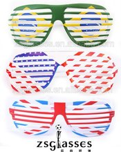 Factory custom gift sunglasses funny crazy rock party shutter shades sun glasses/eyewear/frame printing logo OEM