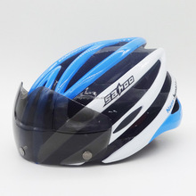 V-107 New design cool bicycle helmet with goggles for adult