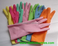 Latex household gloves manufacturer Colored Rubber
