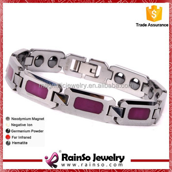 Crimson Oiled 99.99% Germanium Magnetic Tungsten Bracelet