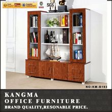 made in China shunde office furniture of bookcase with cabinet base