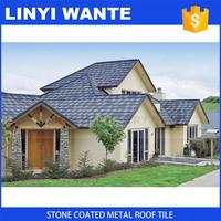 2017 High Quality terracotta color stone coated steel roofing shingles with great price