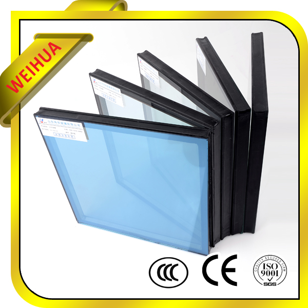 Double insulated glazing french window glass factory in china