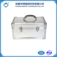 BJX Fashion Aluminum Tool Case Box/Suitcase/ Luggage with Handle and Metal Locks