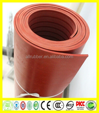 Red 2mm Natural Pure Gum Rubber Sheet
