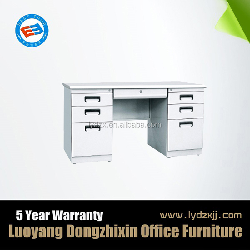 MDF Steel desk design/office counter table office furniture design