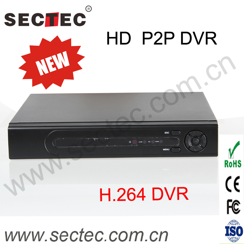 Standalone 16CH digital Video recorder 2CH Audio H.264 P2P DVR