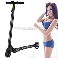 carbon fiber folding lithium electric hub motor electrical scooter only 6.5kgs