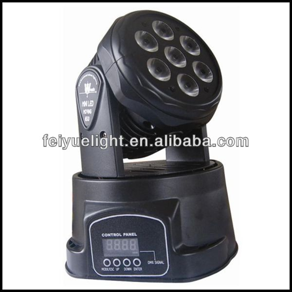 Professional DJ Equipment 4in1 RGBW 7x10w LED Wash Mini Moving Head