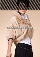 14A18 best quality lady's mink fur fashion poncho