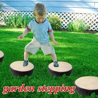 Poly decorative garden stepping stone