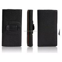 Hot selling Leather Belt Clip Wallet Case Cover Card Holder Pouch For Various Phones