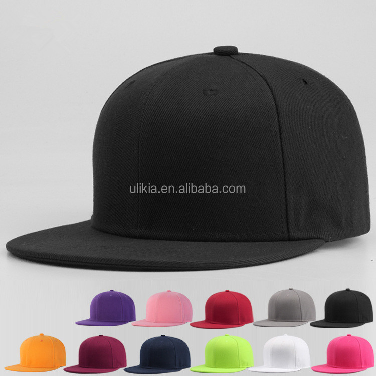 Custom design Plain Adjustable Snapback Hats <strong>Caps</strong> (Many Colors)