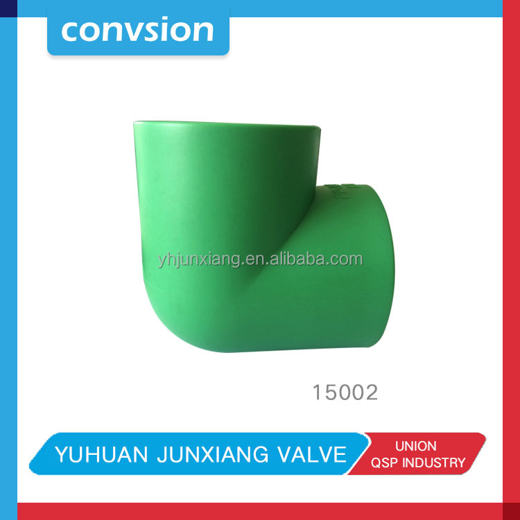 Convsion PPR 45 Degree Elbow fittings green color plastic ppr pipe fittings